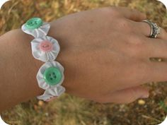 Fabric Yo-Yo Bracelet