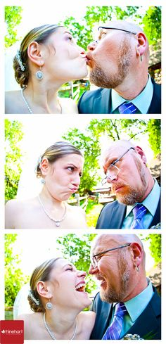 Silly photo-booth style photos for wedding photography