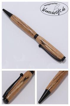 Ein handgemachter Stift aus gestockter Buche. Entdecke jetzt diesen und viele andere auf Wunschstift.de