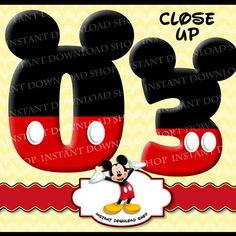 INSTANT DOWNLOWD Mickey Mouse Numbers Mickey Mouse Digital by InstantDownloadShop | Etsy
