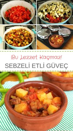 Sebzeli, Kuşbaşı Etli Güveç (videolu) – Nefis Yemek Tarifleri Vegetable, Flaked Meat Stew (with video) How to make a recipe? Here is a description of this recipe in the book of people and photographs of the experimenters. Healthy Burger Recipes, Fish Recipes, Vegetable Recipes, Meat Recipes, Seafood Recipes, Yummy Recipes, Best Homemade Burgers, Turkish Recipes, Ethnic Recipes