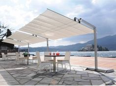 Lovely outdoor space and awning
