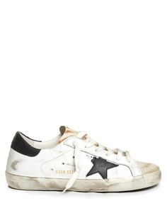GOLDEN GOOSE Super Star Low-Top Animal-Print Trainers. #goldengoose #shoes #sneakers