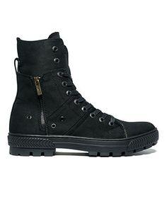 Levi's Canvas Sahara Hi-Top Boots - Shoes - Men - Macy's