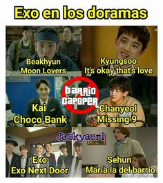 La más popular la de Suho 😂😂😂😂 Kyungsoo, Exo Chanyeol, It's Okay That's Love, Exo Memes, Kpop Guys, Bts Chibi, Chanbaek, Funny Faces, Super Junior