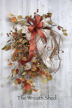 Ships Free, Uniquely Handmade Vine Fall Wreath, Fall Door Wreaths, Fall for Front Door, Fall Decor, Vine Autumn Wreath, Country Fall Wreath