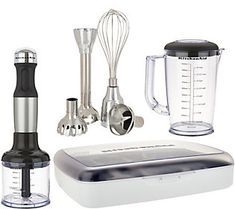 KitchenAid 5 Speed Hand Blender With Attachments And Storage Case