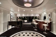Spanning the entire beam of the ship, each suiteboasts a large living room, king-size bed...