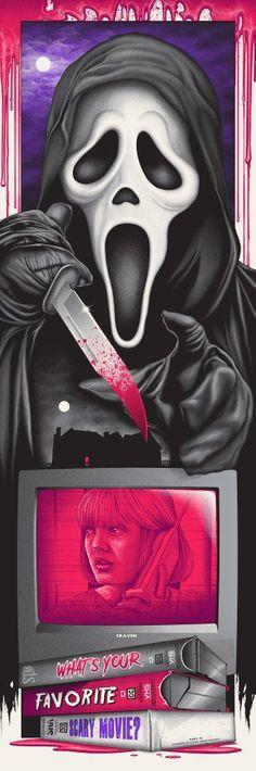 Image of Ghostface Arte Horror, Horror Art, Scream Art, Scream Movie, Ghostface Scream, Horror Drawing, Horror Photos, Movie Tattoos, Horror Movie Characters