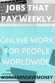 Work Online Jobs, Online Work From Home, Online Income, Earn Money Online, Ways To Earn Money, How To Make Money, Self Employed Jobs, Work From Home Companies