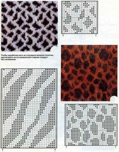 knit animal print patterns