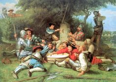 The Kappeler Milchsuppe from an 1869 painting. The first War of Kappel (Erster Kappelekrieg) 1529