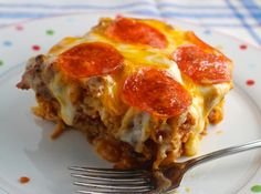 Pizza Spaghetti Style is Delicious and Rich Pizza in a Casserole: Pizza Spaghetti Style