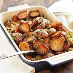 Ultra-Crispy New Potatoes With Garlic, Herbs, and Lemon