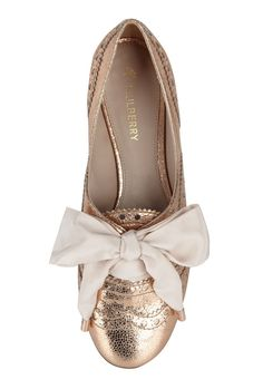 Mulberry rose gold flat