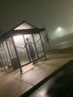 Waiting for the late bus home and i keep seeing someone out of the corner of my eye. Finally caught a photo of it. I'm going to walk. Scary Photos, Creepy Images, Creepy Pictures, Creepy Photography, Dark Photography, Arte Horror, Horror Art, Horror Decor, Bizarre