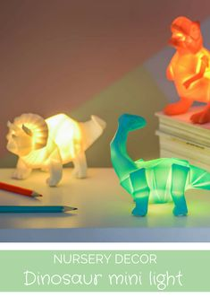 These small dinosaur lights are so cute for the Nursery or Kids Bedroom - Must have for boys room #ad #dino #decor