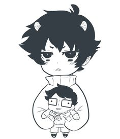Karkat and John :3 --Homestuck