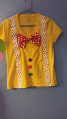 Ladies DIY Clown t-shirt for circus party