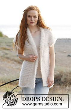 "Free Pattern Ravelry: 138-17 ""Milky Wave"" - Jacket in ""Symphony"" and ""Cotton Viscose"" pattern by DROPS design"