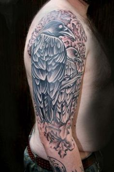 crow  by James Woodford of Woodford Tattoo