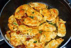 Frango Chicken, Shrimp, Meat, Food, Fried Chicken Breast, Onion Sauce, Recipes, Essen, Meals