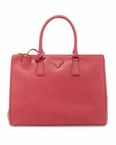 Saffiano Executive Tote Bag, Pink by Prada at Neiman Marcus.