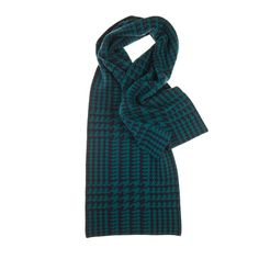 Cashmere Houndstooth Scarf - Accessories - Womens - fine cashmere clothing, accessories and knitwear