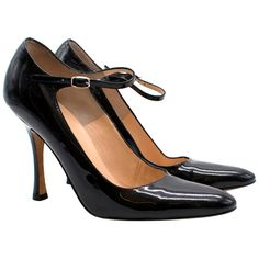 Manolo Blahnik Patent Mary-Jane Pumps US 6 For Sale at 1stDibs Black Leather Ankle Boots, Patent Leather, Manolo Blahnik Heels, Black Pumps Heels, Mary Jane Pumps, Satin Pumps, Fashion Heels, Womens High Heels, Zapatos