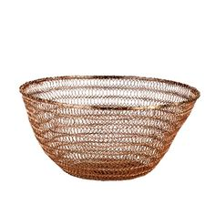 Bowl deep wire knitted copper sold by pols potten, http://vps18379.public.cloudvps.com.
