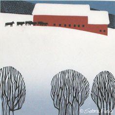 """""""Heading for Shelter"""" - Sabra Field, Printmaker"""