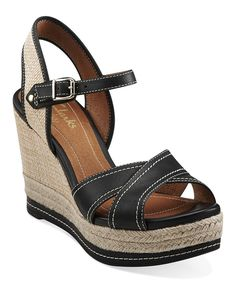 a10dc1d32bd Amelia Air in Black Leather   Synthetic - Womens Sandals from Clarks