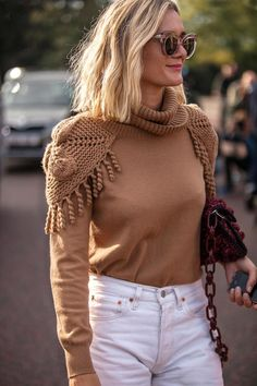 Knitwear Fashion, Knit Fashion, Fashion Weeks, Bella Hadid Outfits, Casual Outfits, Fashion Outfits, Embroidery Fashion, Knitting Accessories, Knitting Designs