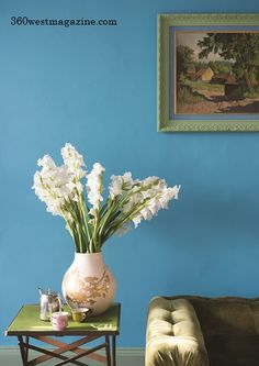 Nest by Tamara: Let's chat interior design, delicious food & quality English paint by Farrow & Ball Farrow Ball, Farrow And Ball Paint, New Paint Colors, Wall Colors, Vert Turquoise, Bright Paintings, Blue Walls, Blue Rooms, Paint Colors