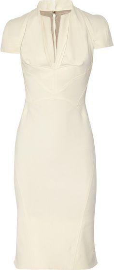 Elegant  Zac Posen Stretch CottonCrepe Dress in Beige (cream)