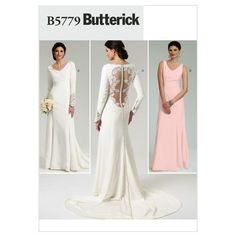 Mccall Pattern B5779 Ax5 (4-6-8-Butterick Pattern  Adding to wedding dress from lace and button hell to my mom's resume would be hilarious.
