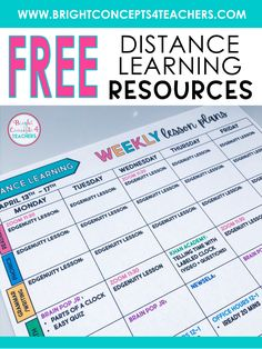FREE Lesson Plan Template for Distance Learning