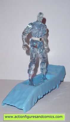 Toy Biz action figures for sale to buy: X-MEN / X-FORCE series 1994 ICEMAN 100% COMPLETE Condition: Excellent. displayed only / collectable condition Figure size: approx. 5 inch ----------------------