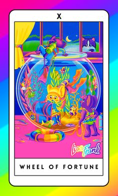 Lisa Frank tarot deck - can be downloaded and printed from this article! --  This Lisa Frank Tarot Deck Will Bring Out Your Inner Fifth-Grade Mystic