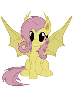 Flutterbat Vector (batpony fluttershy from Bats! Mlp My Little Pony, My Little Pony Friendship, Fluttershy, Pokemon, Pikachu, Imagenes My Little Pony, Little Poni, Mlp Pony, Twilight Sparkle