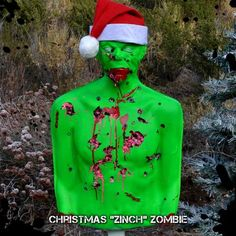 If the zombie apocalypse hits during the holiday season, you'll want to use this tactical bleeding zombie target to prepare.