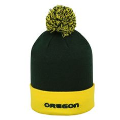 finest selection 3a200 22797 Adult Top of the World Oregon Ducks Pom Knit Hat