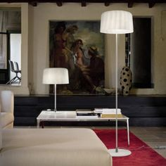 For this week's moment of 'Contemporary Lighting Ideas' we are talking about floor lamps. We're showing you a mid-century modern floor lamp Contemporary Floor Lamps, Modern Floor Lamps, Italian Lighting, Modern Lighting, Modern Light Fittings, Glass Floor Lamp, Reading Nook, Murano Glass, Glass Shades