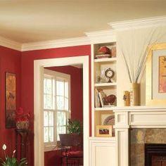 How to Install Crown Molding; Three-Piece Design Interior Trim, Interior Design, Crown Molding Installation, Diy Crown Molding, Molding Ideas, Crown Moldings, Craftsman Window Trim, Trim Carpentry, Cute Dorm Rooms