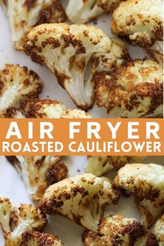There's no excuse for boring, tasteless vegetables when you can make deliciously golden Roasted Cauliflower in the air fryer in 15 minutes flat. This super easy air fried cauliflower is a healthy vegan side dish that doesn't compromise on flavour. Air Fried Vegetable Recipes, Air Fryer Recipes Vegetarian, Vegetable Appetizers, Air Fryer Dinner Recipes, Air Fryer Recipes Easy, Keto Recipes, Healthy Appetizers, Veggie Recipes, Easy Recipes