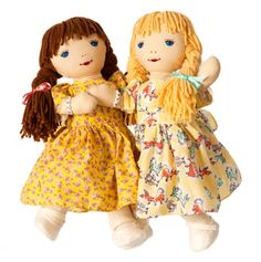 """BFF - Kathy & Janet dolls are 16"""" tall and wear matching (best pal) bracelets."""