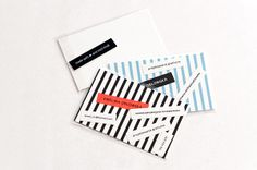 business/personal  cards by wel ., via Behance