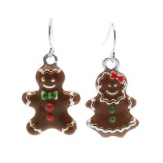 Tutorial - How to: Gingerbread Boy and Girl Earrings | Beadaholique