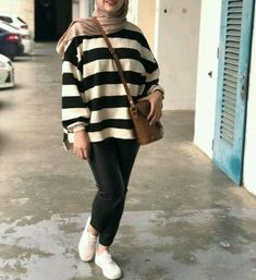 striped sweatshirt hijab-Latest outerwear for women – Just Trendy Girls