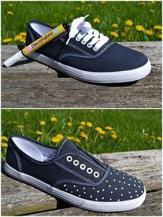 DIY Polka-Dot Sneakers :DIY and Craft Tutorials